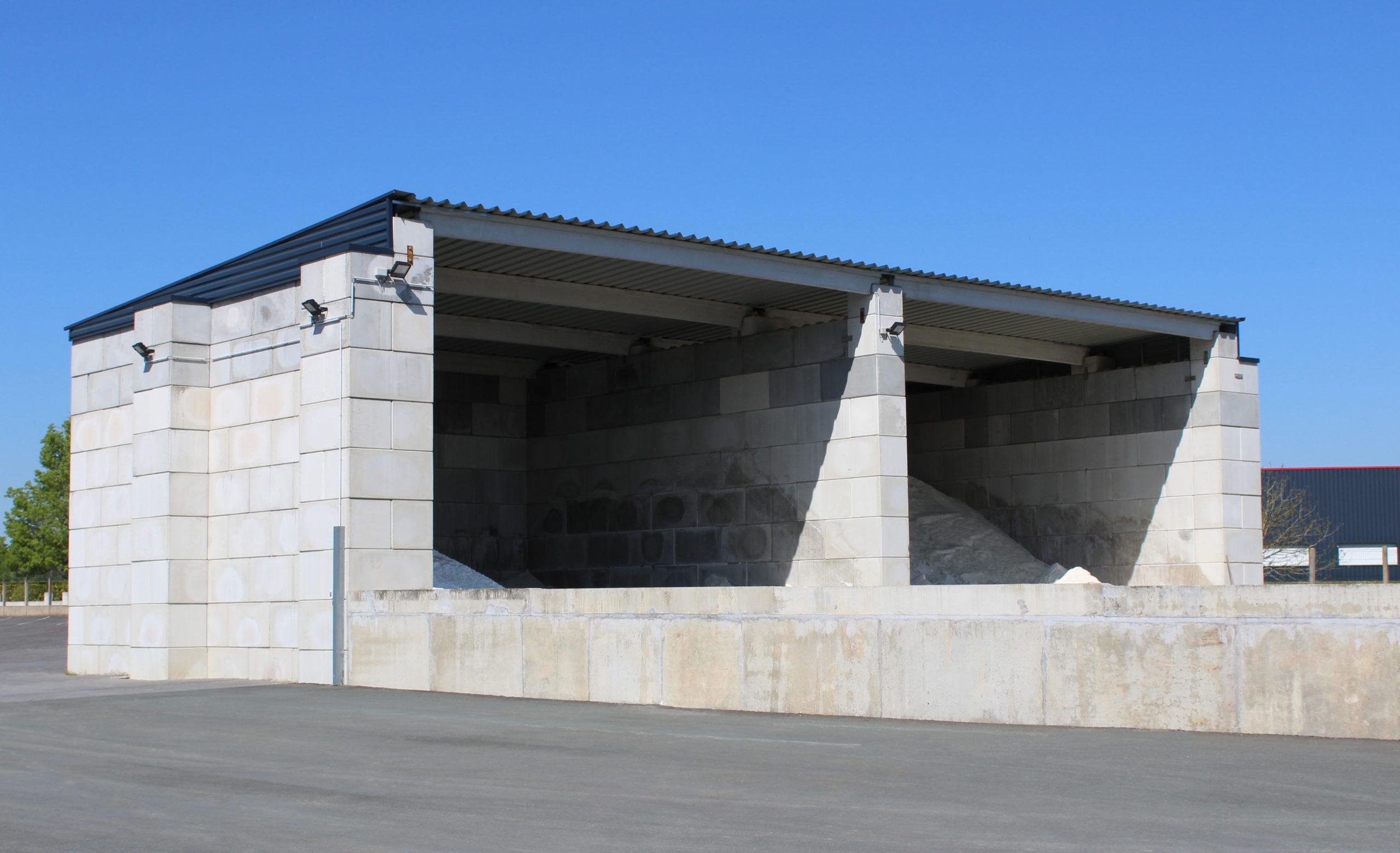 Vue bâtiment en blocs légo empilable