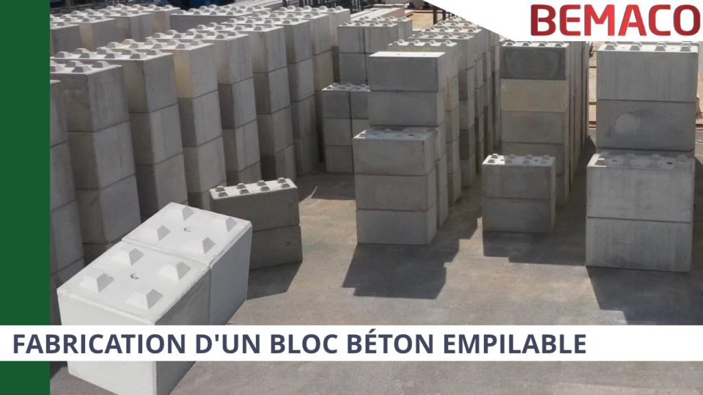 Article fabrication de blocs empilables